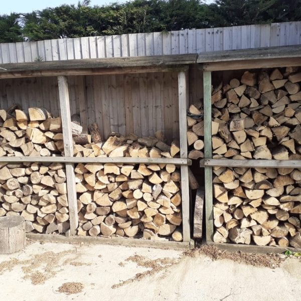 logs in rack
