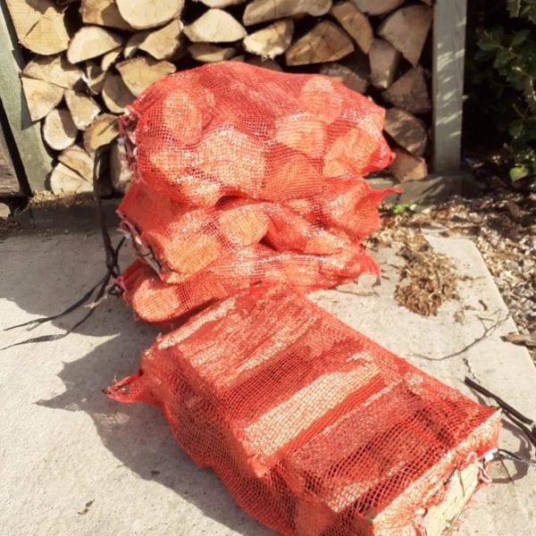 Mixed hardwood log bags
